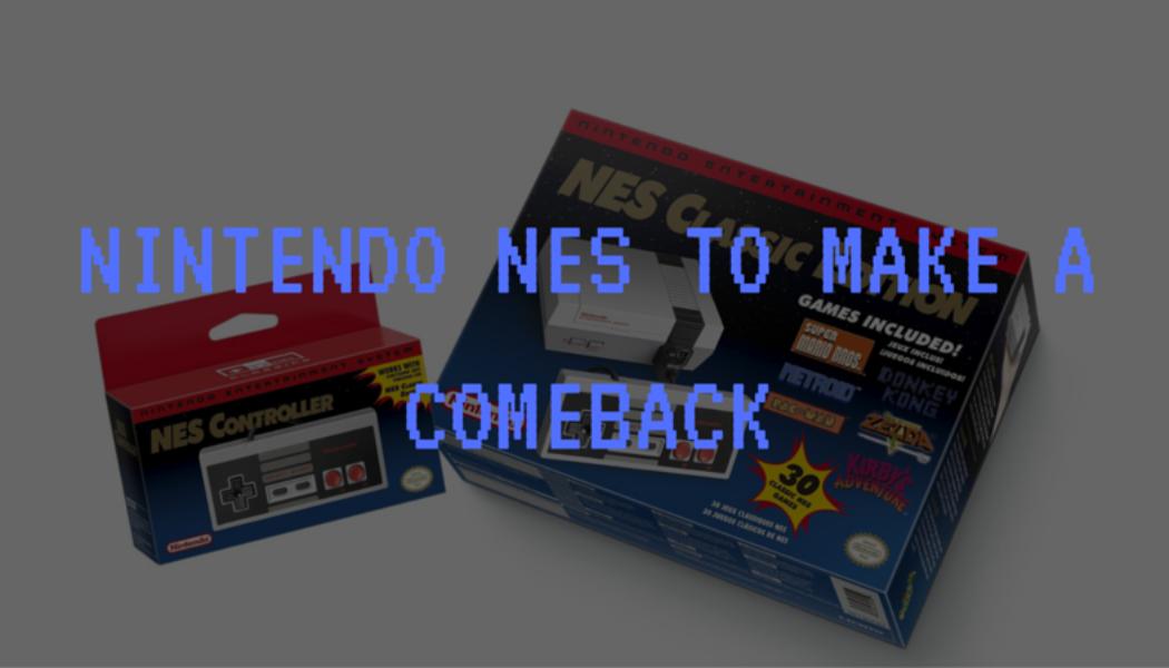 Nintendo's NES To Make A Comeback As A Mini Version
