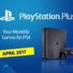 PS Plus April 2017