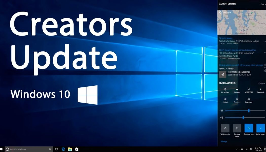 Creators Update Brings Game-Changing Features To Windows 10