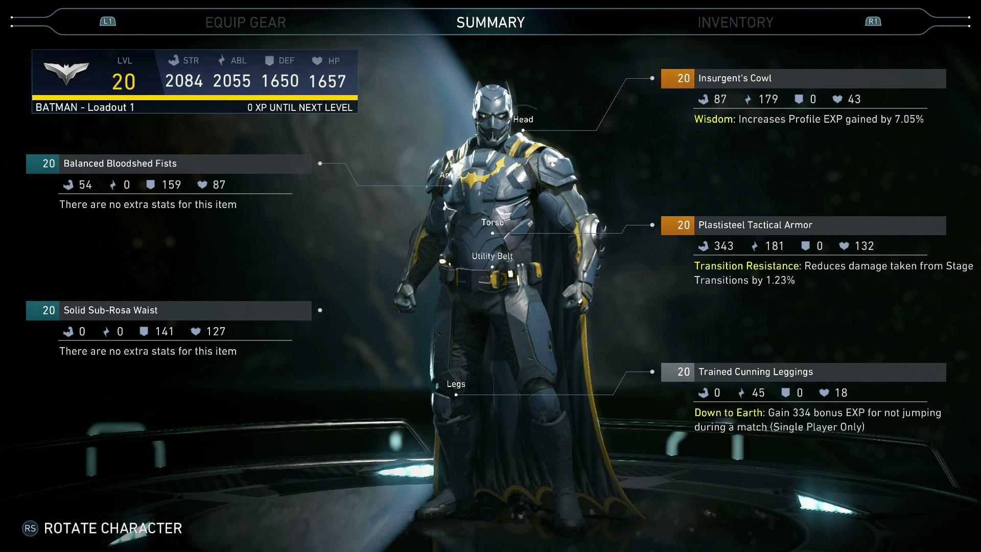 Insurgent Batman Customization In Injustice 2