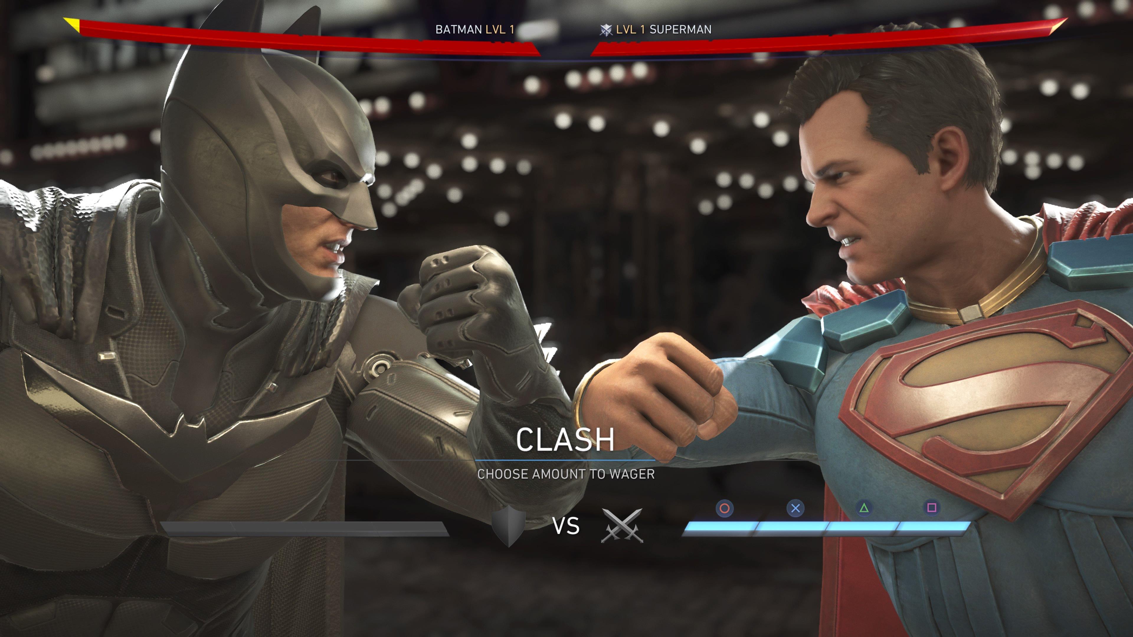 Batman Clashing with Superman