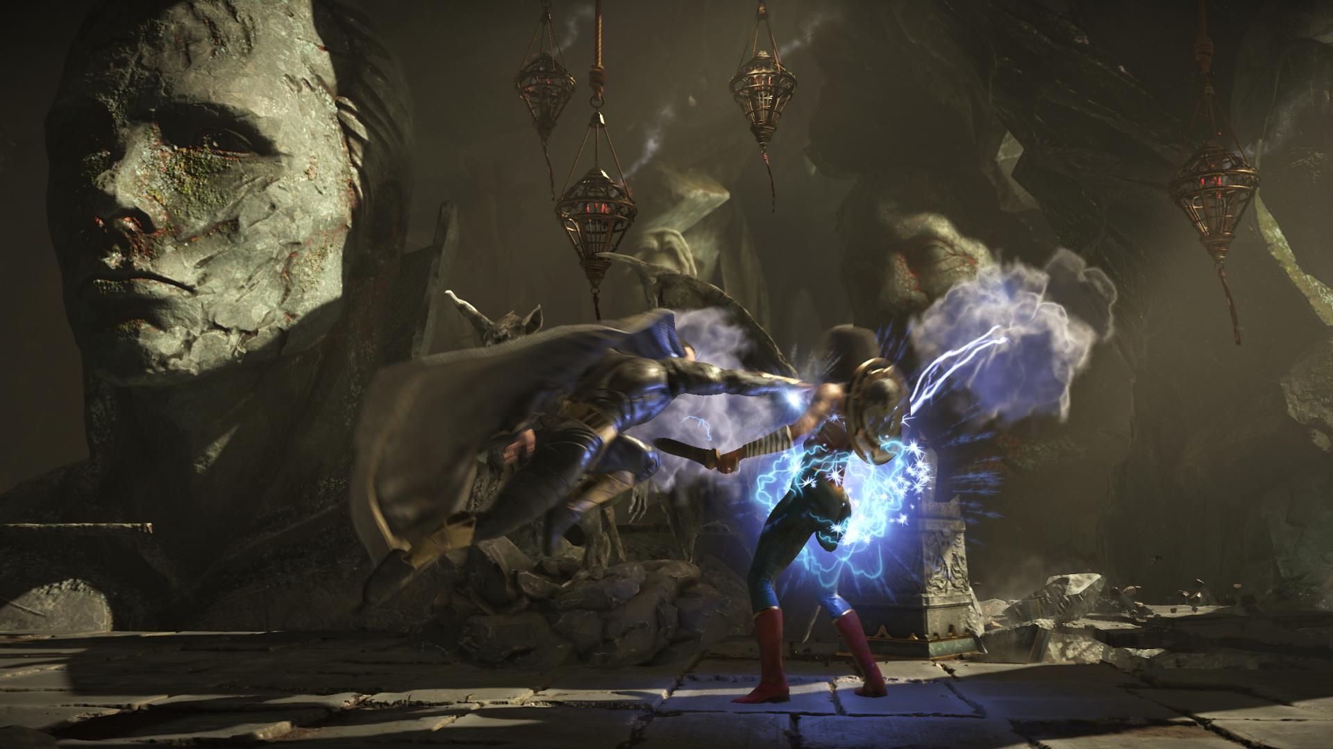 Black Adam Punching Wonder Woman in Kahndaq