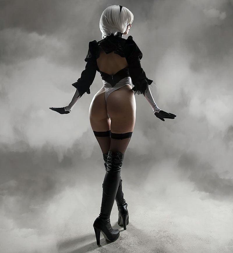 Nier automata 2b cosplay dancing