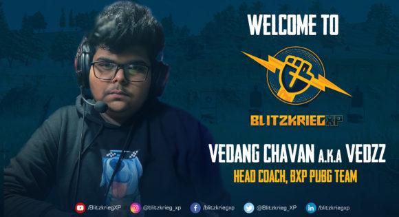 BlitzkriegXP sign Vedang Chavan A.K.A Vedzz as head coach for BXP PUBGTeam